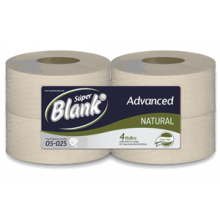 Super Blanko Papel Higienico Institucional Natural Hoja Doble x250mt